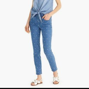 J.Crew Polka Dot Jeans NWOT